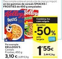 Oferta de Cereales Kellogg's por 3,1€