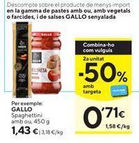 Oferta de Espaguetis Gallo por 1,43€