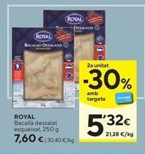 Oferta de Bacalao desalado Royal por 7,6€