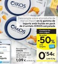 Oferta de Yogur de melocotón OIKOS por 1,09€