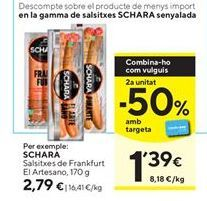 Oferta de Salchichas frankfurt Schara por 2,79€