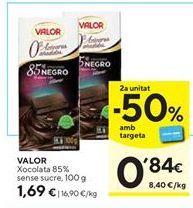 Oferta de Chocolate 85%  Valor por 1,69€