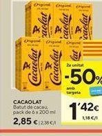 Oferta de Batido de cacao Cacaolat por 2,85€