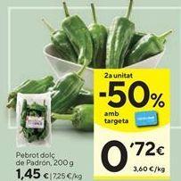 Oferta de Pimientos dulce de padrón  por 1,45€