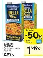 Oferta de Caldo de paella Gallina Blanca por 2,99€