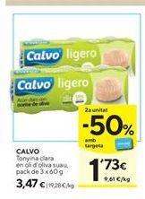 Oferta de Atún claro Calvo por 3,47€