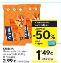Oferta de Palitos de mar Krissia por 2,99€