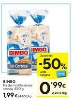 Oferta de Pan de molde Bimbo por 1,99€