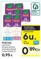 Oferta de Leche entera, semidesnatada o desnatada  Pascual  por 0,95€