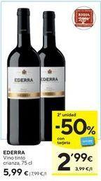 Oferta de Vino tinto Ederra por 5,99€