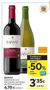 Oferta de Vino Raimat por 6,7€