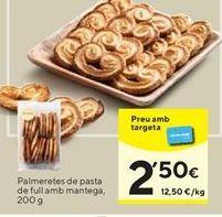 Oferta de Palmeras de hojaldre por 2,5€