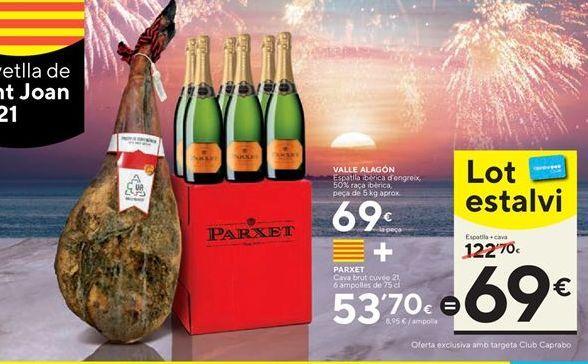 Oferta de Paleta ibérica de cebo Valle Alagón por 69€