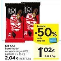 Oferta de Barritas de chocolate Kit Kat por 2,04€