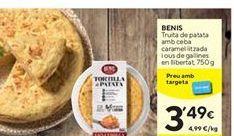 Oferta de Tortilla de patatas BENIS por 3,49€