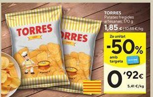 Oferta de Patatas fritas Torres por 1,85€