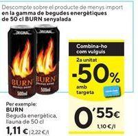 Oferta de Bebida energética Burn por 1,11€