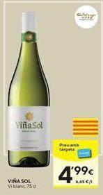 Oferta de Vino blanco Viña Sol por 4,99€