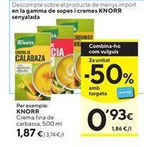 Oferta de Crema de calabaza Knorr por 1,87€