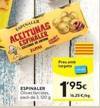 Oferta de Aceitunas Espinaler por 1,95€