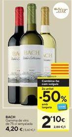 Oferta de Vino Bach por 4,2€