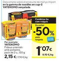 Oferta de Fideos yakisoba Yatekomo por 3,15€