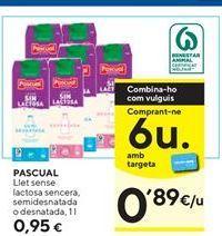 Oferta de Leche sin lactosa Pascual por 0,95€