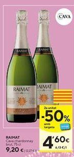 Oferta de Cava Chardonnay Raimat por 9,2€