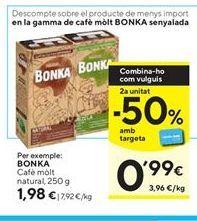 Oferta de Café molido natural Bonka por 1,98€