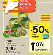 Oferta de Huevos Roig por 2,15€