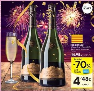 Oferta de Cava brut nature Codorniu por 14,95€