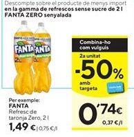 Oferta de Refresco de naranja Zero fanta por 1,49€