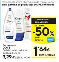 Oferta de Gel de ducha nutricional intensa Dove por 3,29€