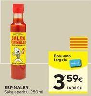 Oferta de Salsas Espinaler por 3,59€