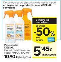 Oferta de Crema solar Delial por 10,9€