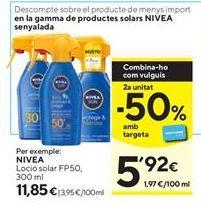 Oferta de Loción solar Nivea por 11,85€