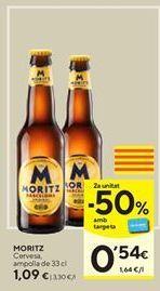 Oferta de Cerveza Moritz por 1,09€
