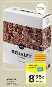 Oferta de Vino tinto ROJALET por 8,95€