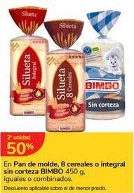Oferta de En Pan de molde, 8 cereales o integrales sin corteza BIMBO por