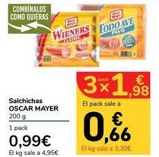 Oferta de Salchichas OSCAR MAYER por 0,99€