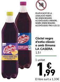 Oferta de Tinto de verano Clásico o Con limón LA CASERA por 1,99€