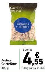 Oferta de Pistachos Carrefour por 4,55€