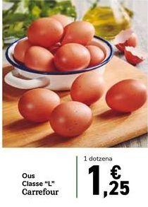"""Oferta de Huevos Clase """"L"""" Carrefour por 1,25€"""
