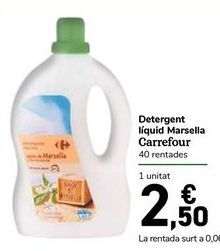 Oferta de Detergente líquido Marsella Carrefour por 2,5€
