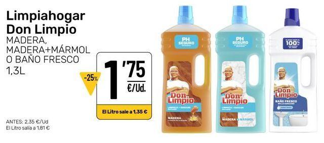Oferta de Limpiadores Don Limpio por 1,75€