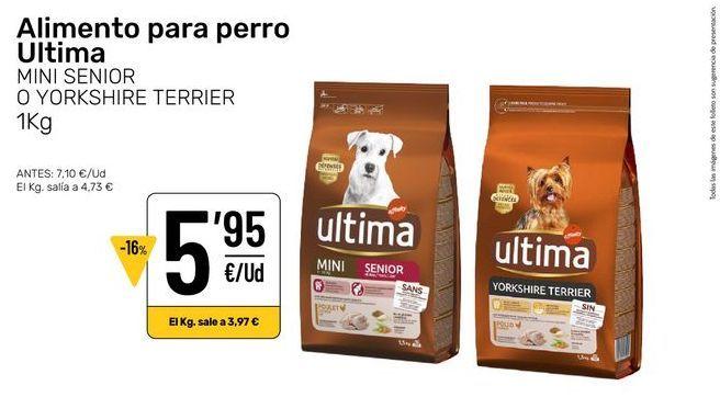 Oferta de Comida para perros Última por 5,95€