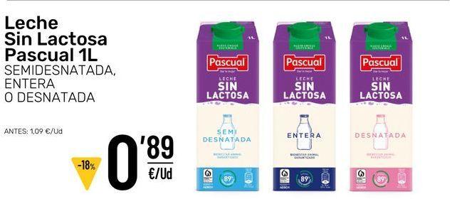 Oferta de Leche sin lactosa por 0,89€