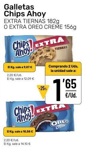 Oferta de Galletas Chips Ahoy por 2,2€