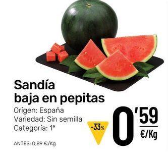 Oferta de Sandía por 0,59€