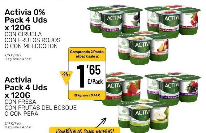 Oferta de Activia natural por 1,65€